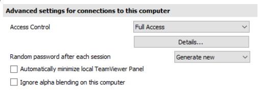how to change password teamviewer host